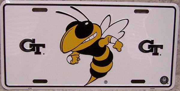 Georgia Tech Yellow Jackets NCAA Aluminum National Collegiate Athletic Association License Plate thumbnail