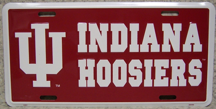 Indiana Bloomington Hoosiers NCAA Aluminum National Collegiate Athletic Association License Plate thumbnail