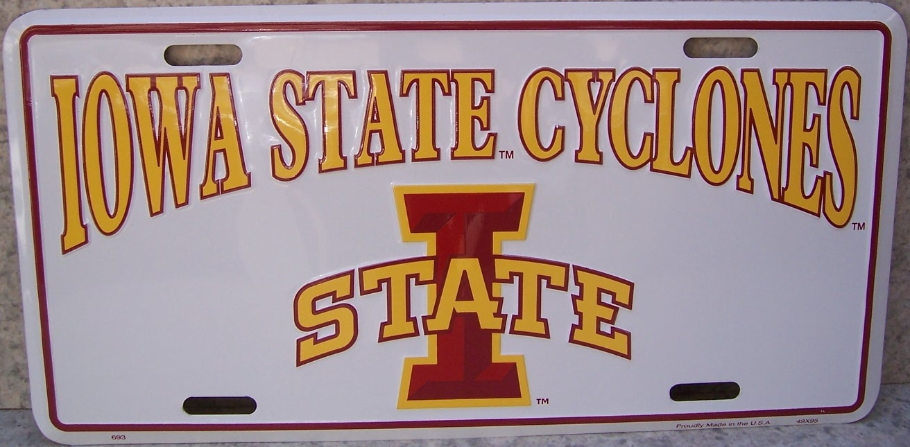 Iowa State Cyclones NCAA Aluminum National Collegiate Athletic Association License Plate thumbnail