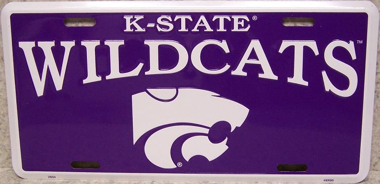 Kansas State Wildcats NCAA Aluminum National Collegiate Athletic Association License Plate thumbnail