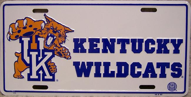 Kentucky Wildcats NCAA Aluminum National Collegiate Athletic Association License Plate thumbnail