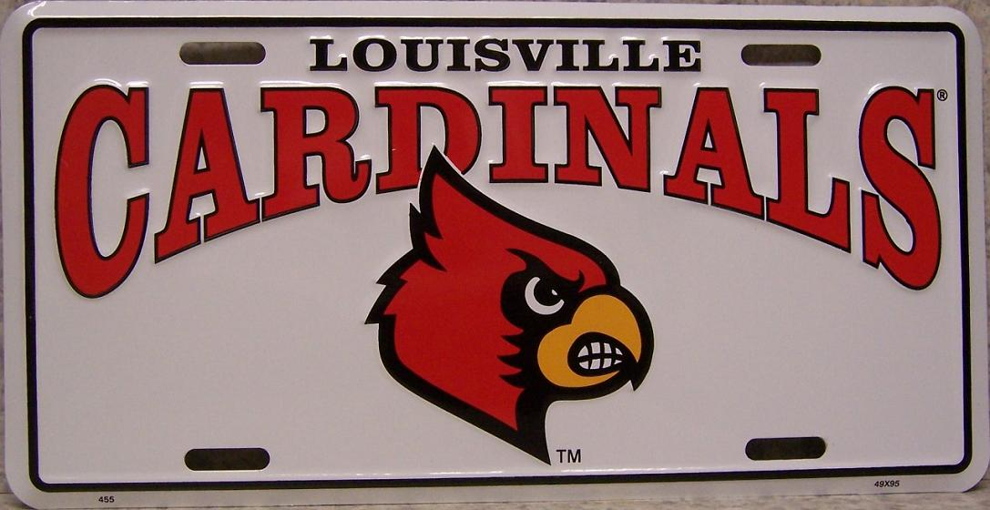 Louisville Cardinals NCAA Aluminum National Collegiate Athletic Association License Plate thumbnail