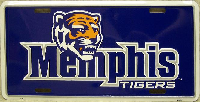 Memphis Tigers NCAA Aluminum National Collegiate Athletic Association License Plate thumbnail