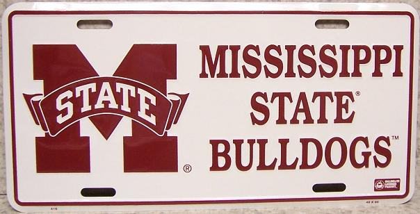 Mississippi State Bulldogs NCAA Aluminum National Collegiate Athletic Association License Plate thumbnail