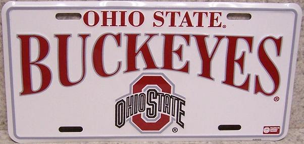 Ohio State Buckeyes NCAA Aluminum National Collegiate Athletic Association License Plate thumbnail