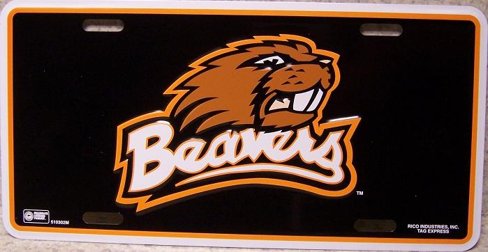 Oregon State Beavers NCAA Aluminum National Collegiate Athletic Association License Plate thumbnail
