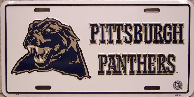 Pittsburgh Panthers NCAA Aluminum National Collegiate Athletic Association License Plate thumbnail