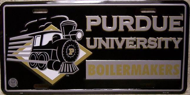 Purdue Boilermakers NCAA Aluminum National Collegiate Athletic Association License Plate thumbnail