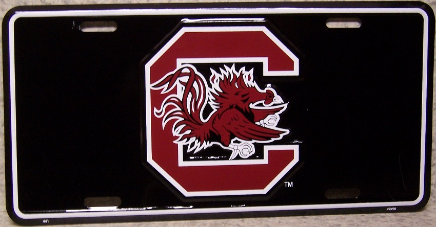 South Carolina Gamecocks NCAA Aluminum National Collegiate Athletic Association License Plate thumbnail