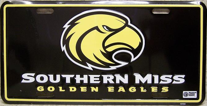 Southern Mississippi Golden Eagles NCAA Aluminum National Collegiate Athletic Association License Plate thumbnail