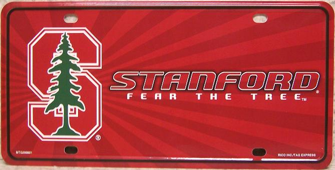 Stanford Cardinal NCAA Aluminum National Collegiate Athletic Association License Plate thumbnail