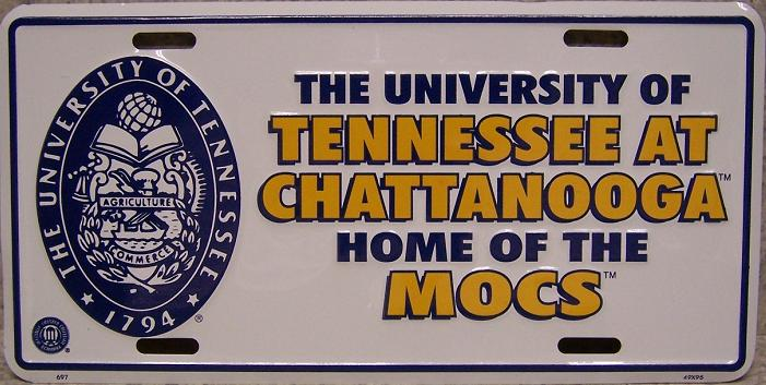 Tennessee Chattanooga MOCS NCAA Aluminum National Collegiate Athletic Association License Plate thumbnail