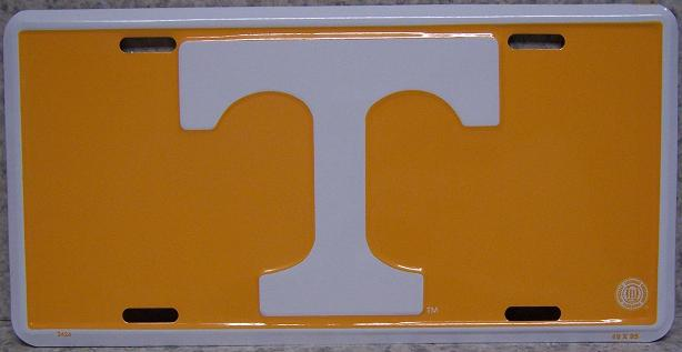 Tennessee Volunteers NCAA Aluminum National Collegiate Athletic Association License Plate thumbnail