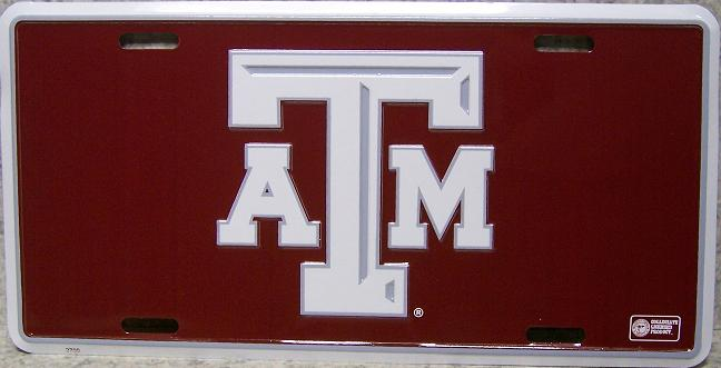Texas A and M Aggies NCAA Aluminum National Collegiate Athletic Association License Plate thumbnail