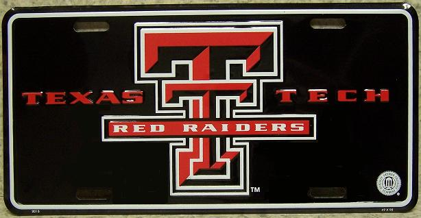 Texas Tech Red Raiders NCAA Aluminum National Collegiate Athletic Association License Plate thumbnail