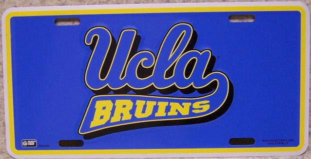 UCLA Bruins NCAA Aluminum National Collegiate Athletic Association License Plate thumbnail
