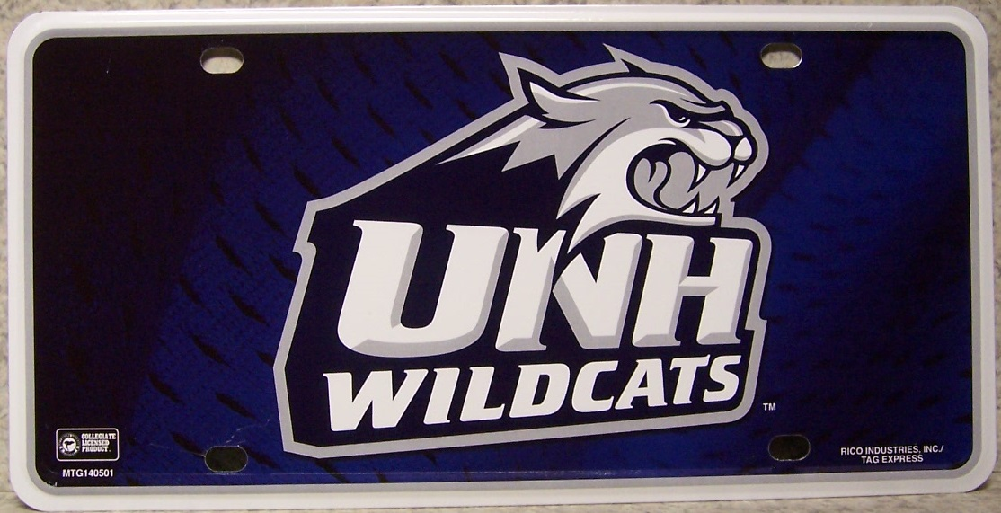New Hampshire Wildcats NCAA Aluminum National Collegiate Athletic Association License Plate thumbnail