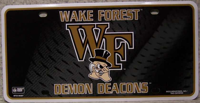 Wake Forest Demon Deacons NCAA Aluminum National Collegiate Athletic Association License Plate thumbnail