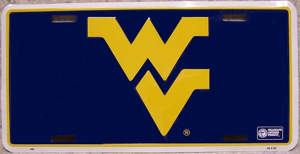 West Virginia Mountaineers NCAA Aluminum National Collegiate Athletic Association License Plate thumbnail