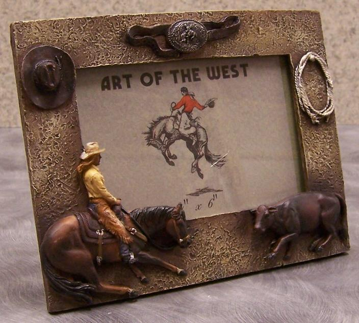 jpg cowboy picture frame 11517b