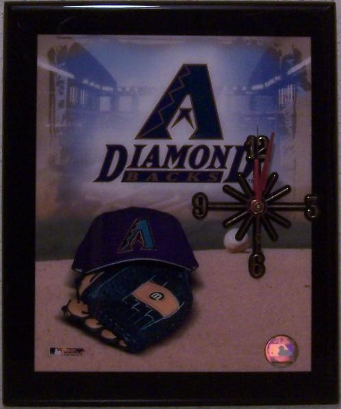 Arizona Diamondbacks Major League Baseball battery operated wall clock