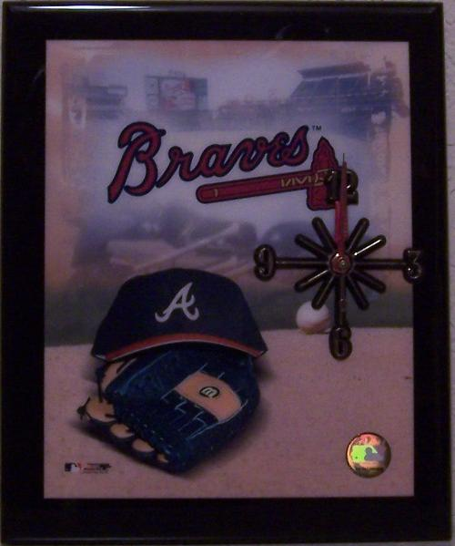 Atlanta Braves Major League Baseball battery operated wall clock