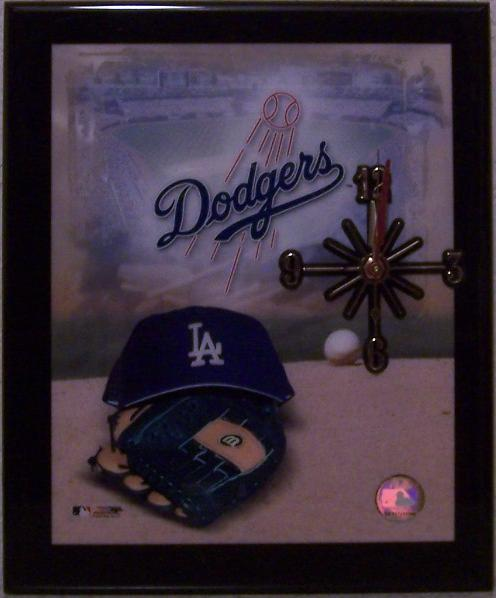 Los Angeles Dodgers Major League Baseball battery operated wall clock