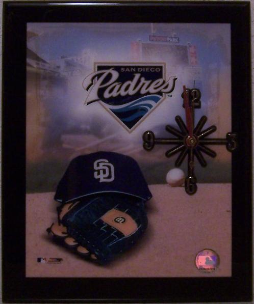 San Diego Padres Major League Baseball battery operated wall clock