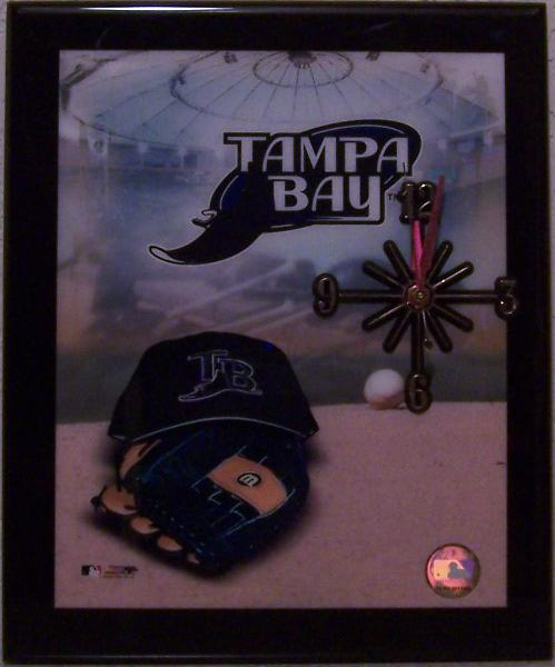 Tampa Bay Devil Rays Major League Baseball battery operated wall clock