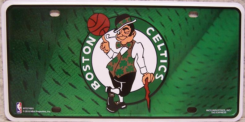 Boston Celtics National Basketball Association Aluminum NBA License Plate thumbnail