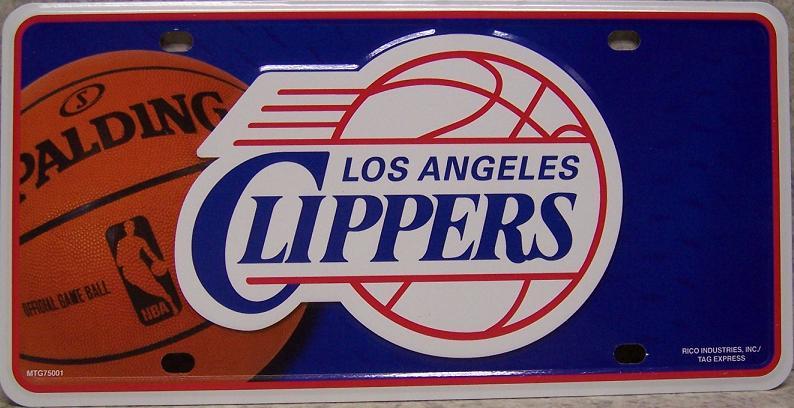 Los Angeles Clippers blue National Basketball Association Aluminum NBA License Plate thumbnail