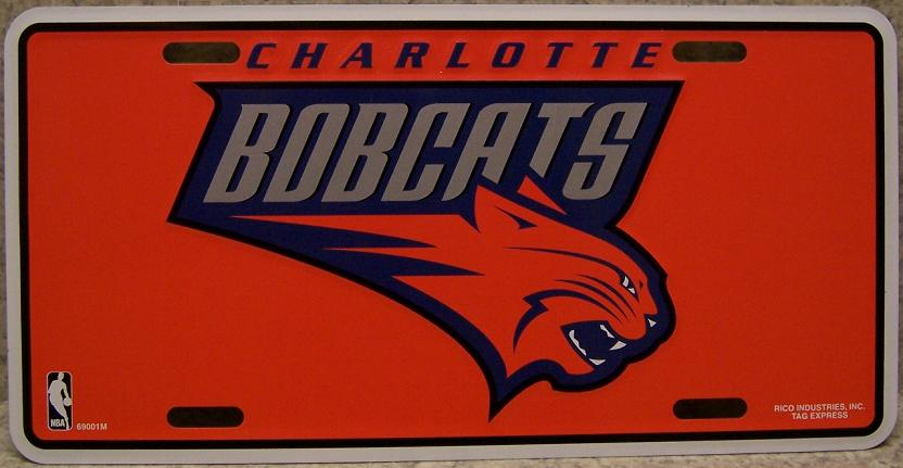 Charlotte Bobcats National Basketball Association Aluminum NBA License Plate thumbnail