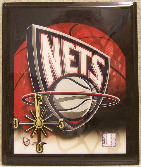 Nets National Basketball Association battery operated NBA wall clock