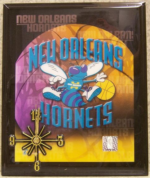 New Orleans Hornets National Basketball Association battery operated NBA wall clock thumbnail