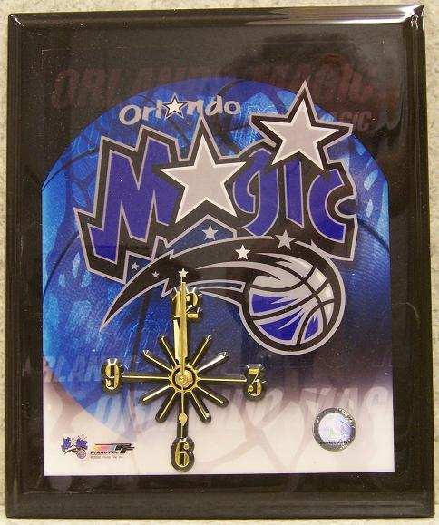 Orlando Magic National Basketball Association battery operated NBA wall clock