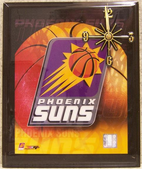 Phoenix Suns National Basketball Association battery operated NBA wall clock