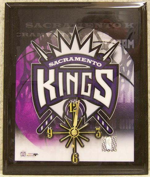 Sacramento Kings National Basketball Association battery operated NBA wall clock