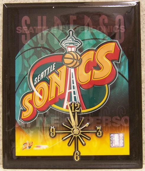 Seattle Supersonics National Basketball Association battery operated NBA wall clock
