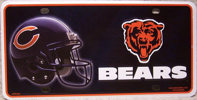 Chicago Bears National Football League Aluminum NFL License Plate thumbnail