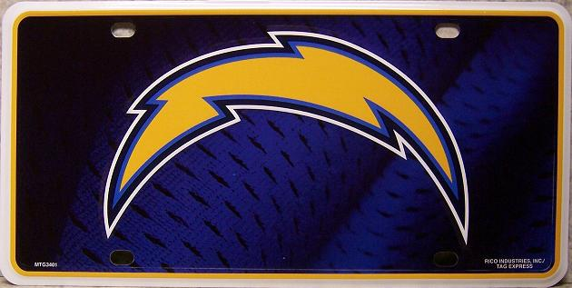 San Diego Chargers National Football League Aluminum NFL License Plate thumbnail