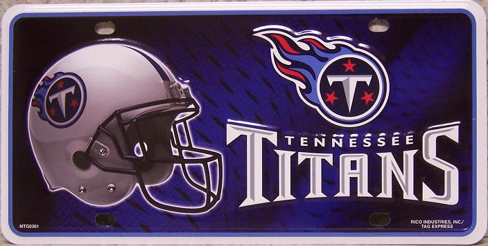 Tennessee Titans National Football League Aluminum NFL License Plate thumbnail