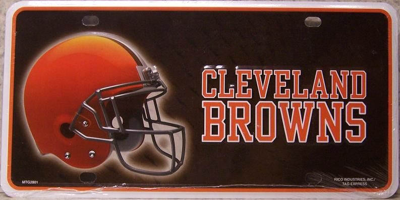 Cleveland Browns National Football League Aluminum NFL License Plate thumbnail