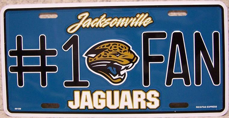 Jacksonville Jaguars National Football League Aluminum NFL License Plate thumbnail