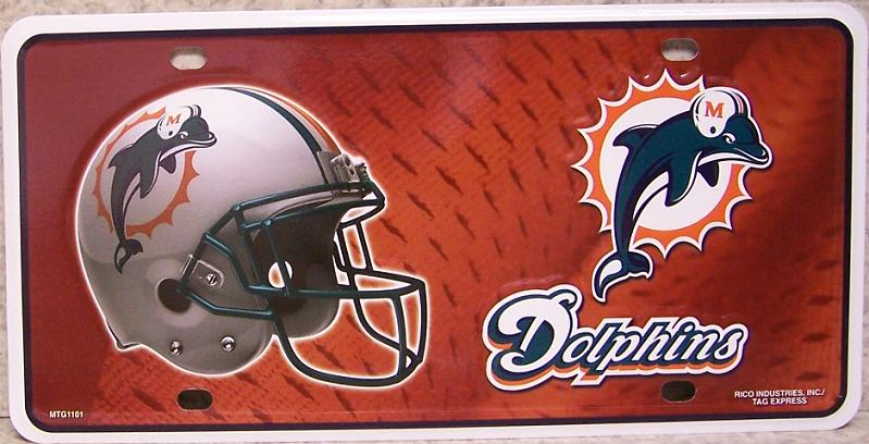 Miami Dolphins National Football League Aluminum NFL License Plate thumbnail