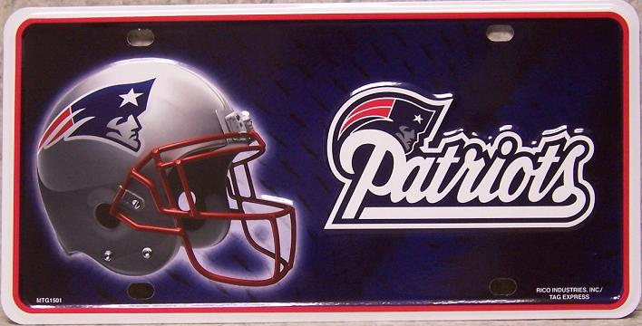 New England Patriots National Football League Aluminum NFL License Plate thumbnail