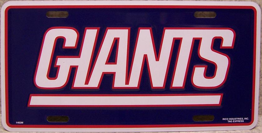 New York Giants National Football League Aluminum NFL License Plate thumbnail