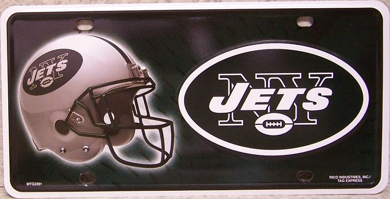 New York Jets National Football League Aluminum NFL License Plate thumbnail