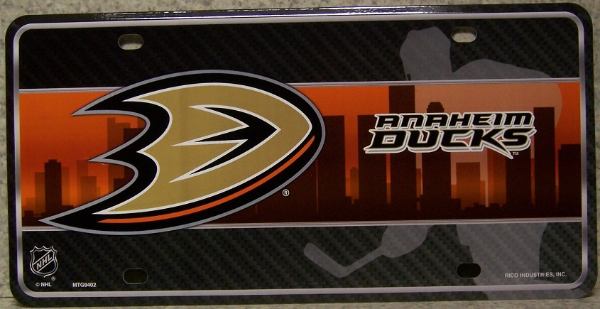 Anaheim Ducks National Hockey League Aluminum NHL License Plate thumbnail