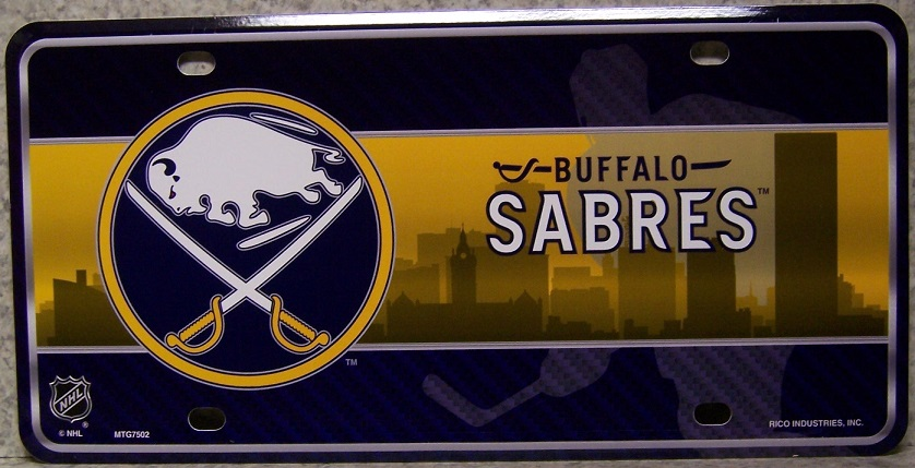 Buffalo Sabres National Hockey League Aluminum NHL License Plate thumbnail