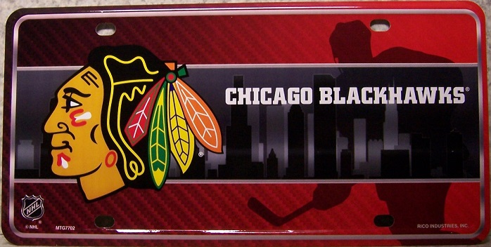 Chicago Blackhawks National Hockey League Aluminum NHL License Plate thumbnail